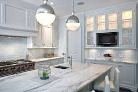 Modern Glass Tile Backsplash - White glass tile backsplash