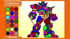 transformer coloring pages how to draw and color transformers coloring pages for kids youtube