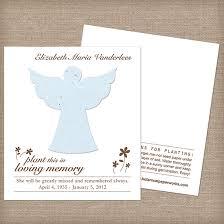 Memorial Service Favors Angel Plantable Memorial Cards Memorial Cards Catalog