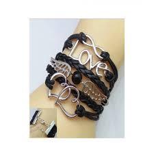 black leather love bracelet images Scenic accessories leather love bracelet for women price in jpg