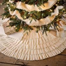 creme burlap ruffled tree skirt 48