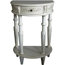 Half Moon Table The Grand Collection Of Handcarved Lindenwood Style Half