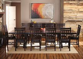 eilean dining table dark mahogany levin furniture