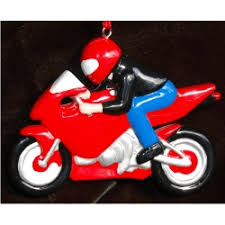sports bike motorcycle personalized ornaments by