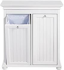 amazon com narrow storage cabinet w recycle bin trash can