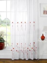 Cream Embroidered Curtains Curtains Red Voile Curtains Charming Patterned Voile Curtains