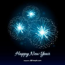 newyear cards happy new year card with fireworks vector free