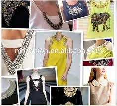 2016 high quality beaded neckline designs of kurtis neckline