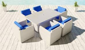 White Patio Furniture Sets 7 Pc Outdoor Dining Set Viro 15 Colors