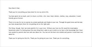 thank you letter to your parents u2013 10 free word excel pdf