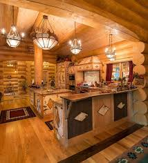 Rustic Home Decorating Ideas Best 25 Log Home Kitchens Ideas On Pinterest Log Cabin Kitchens