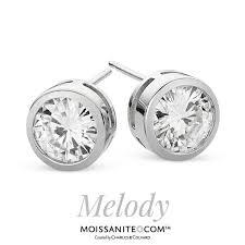 moissanite earrings best 25 moissanite earrings ideas on blue engagement