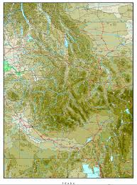 Map Of Idaho Cities Idaho Elevation Map
