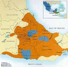 aztec map of mexico the aztec world ushistory org