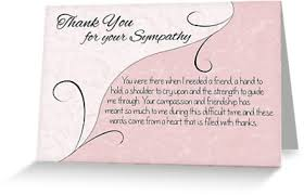 thank you sympathy card pastel pink with vintage scrolls