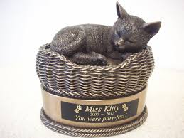 cat in basket urn bronze dog cat urns ceramic
