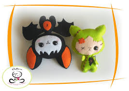 set of two halloween ornaments patterns pdf file baby bat ornament