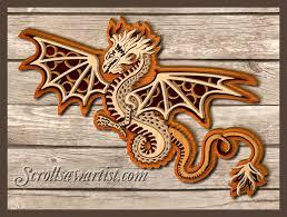 christmas scroll saw patterns multi layered dragon scrolling