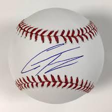 baseball ribbon gleyber torres autographed baseball