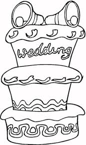 huge cake wedding coloring free printable coloring pages