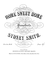 the sweet home sheets home sweet home op 145 smith sydney imslp petrucci music