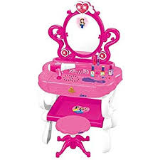 Pink Vanity Set Amazon Com Princess Vanity Set Girls Toy With 16 Fashion U0026 Makeup