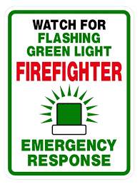 can volunteer firefighters have lights and sirens please pull over for flashing green lights shad qadri