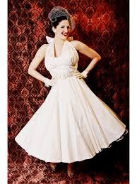50 s style wedding dresses tea length wedding dresses 50 s style ivory silk tea length halter