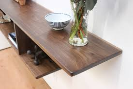 Floating End Table by Asymmetrical Floating Entry Table Console Shelf U2014 Imago Furniture
