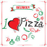 vintage pizza sign background template or pizza box design i