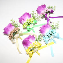 Boutonniere Prices Compare Prices On Purple Rose Corsages Online Shopping Buy Low