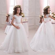 graduation dresses for kids wholesale vintage white lace flower girl dresses for weddings 2016