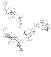 100 stars design tattoo assorted stars design temporary