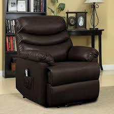 renu lift wall hugger power recliner brown leather prolounger