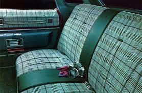 Automobile Upholstery Fabric 1976 Cadillac Interior Trim