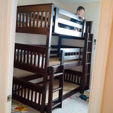 B Triple Bunk Bed Mission The Bunk  Loft Factory - Triple lindy bunk beds
