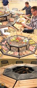 fire pit grill table combo the ultimate fire pit bbq and table combo grill fire pit bbq fire
