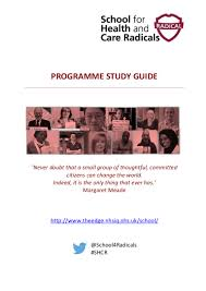 for health and care radicals 2016 programme guide