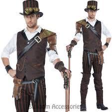 Male Halloween Costumes Cl535 Steampunk Adventurer Mens Victorian Fancy Steam Punk