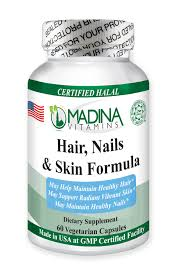 halal hair nails and skin formula madina vitamins
