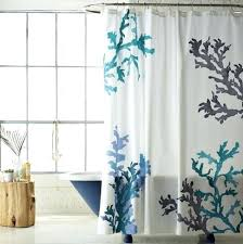 Themed Fabric Shower Curtains Beachy Shower Curtains Teawing Co