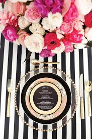 Table Setting Chargers - place settings black white glittering gold etching glass stripes