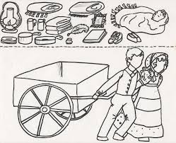 handcart pioneer children coloring pages coloring pages for kids