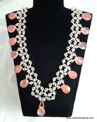 crystal necklace patterns images Diy crystal coral necklace beading tutorial jpg