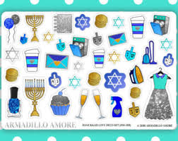 hanukkah stickers menorah stickers etsy