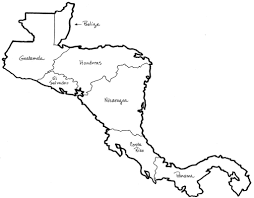 United States Outline Map by Central America Free Map Blank Outline Within Central America Map