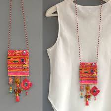 How To Make Bohemian Jewelry - best 25 textile jewelry ideas on pinterest diy embroidered
