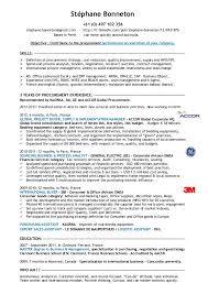 procurement resume stephane bonneton cv experienced procurement specialist