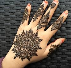 easy round design gol tikka mehndi for hands 2018 fashionglint
