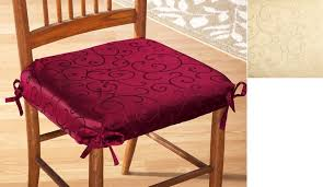 Dining Room Chair Cushions With Ties Dining Room Seat Covers Provisionsdining Com